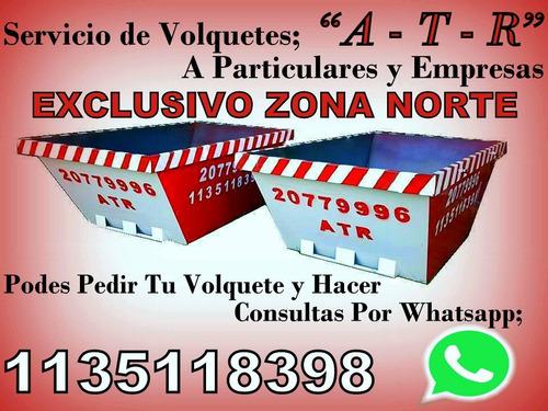 volquetes / atr / zona norte / residuos / tierra / volquete