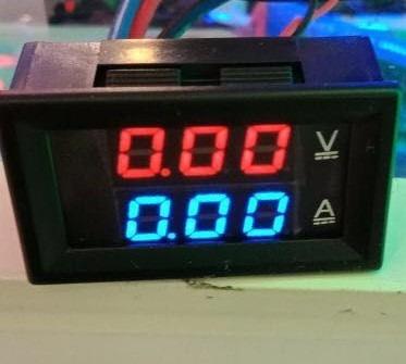 voltimetro 0-100v e amperimetro  10a