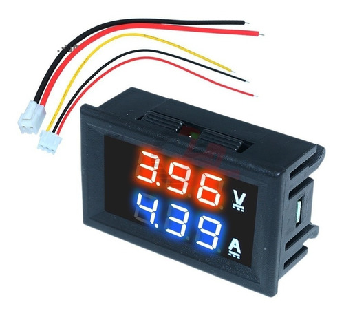 voltimetro amperimetro dc 100v 2a sin shunt