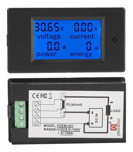 voltimetro amperimetro wattimetro digit. lcd dc 6.5 100v 100