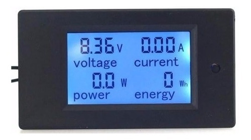 voltimetro amperimetro wattimetro digital lcd dc 6.5 100v 20