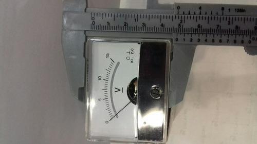 voltimetro analógico galvanometro 15 dc volts