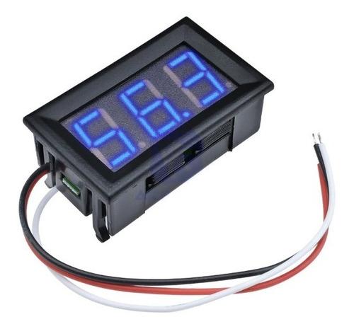 voltimetro azul digital gabinete dc 0-99v 3 dígitos arduino