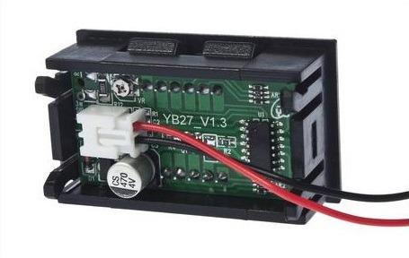 voltimetro con display de 4.5 hasta 30v para fuente de poder