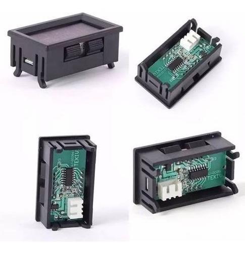 voltimetro de panel 3 digitos 0 - 99.9v display azul