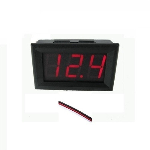 voltímetro digital 2 fios p/painel led verm. 4,5v-30v-cod.24