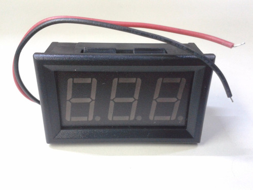 voltimetro digital ac 60 - 500 volt display verde o rojo