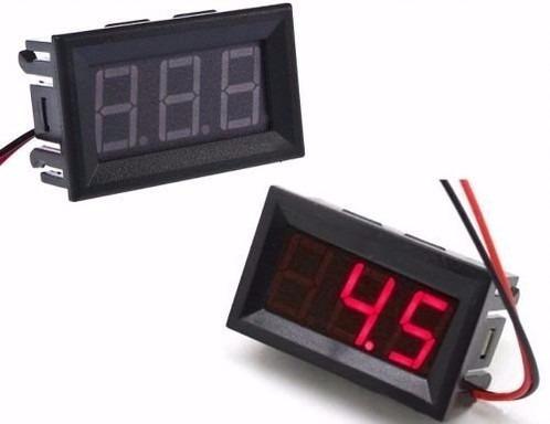 voltimetro digital  auto moto rojo -  electroimporta