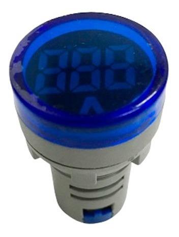 voltimetro digital azul ojo de buey baw