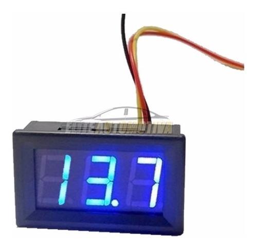 voltímetro digital com remoto 3 vias 0-30v azul asx