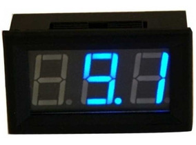 3 1//2 Dígitos Lcd Azul Metro del panel Iluminado Voltímetro