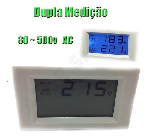 voltímetro digital dupla medição bivolt 110v 220v 380v ac