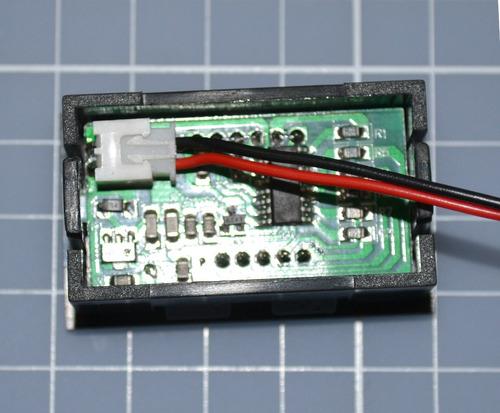 voltímetro digital importado de 3.2v a 30v display vermelho