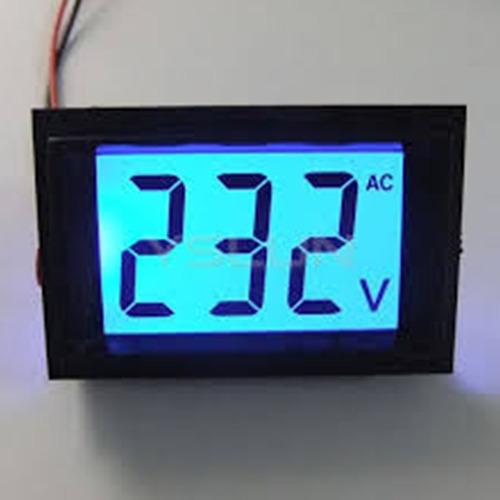 voltímetro digital lcd 80-500v painel energia 110v / 220v ac