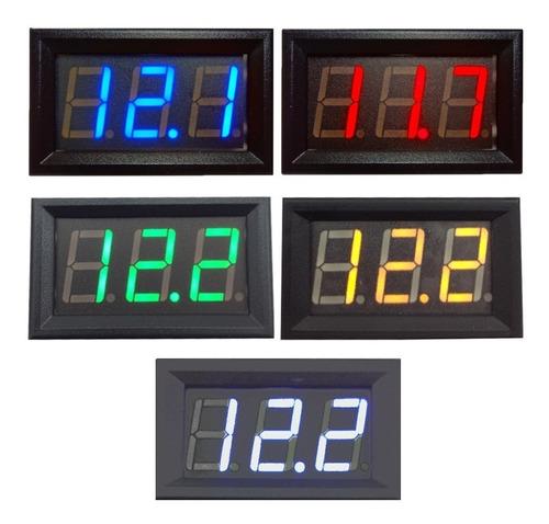 voltímetro digital led automotivo 12v 24v bateria carro moto