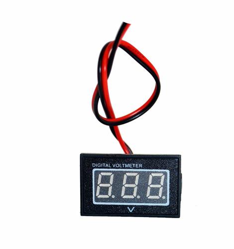 voltímetro digital à prova dágua - medidor bateria 2,5 a 30v