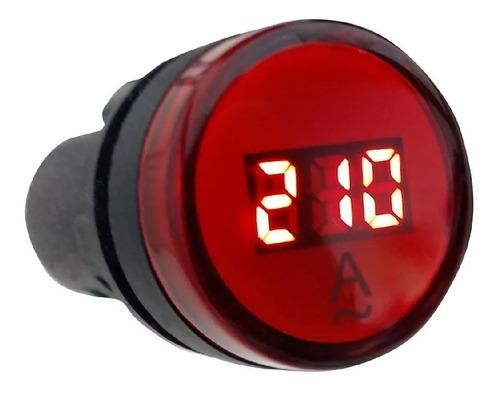 voltimetro digital rojo ojo de buey baw