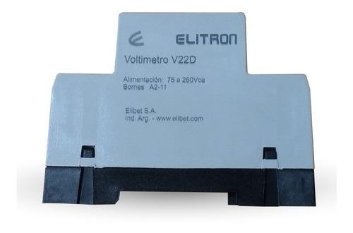 voltimetro din 75a 260v ca - elibet - tofema