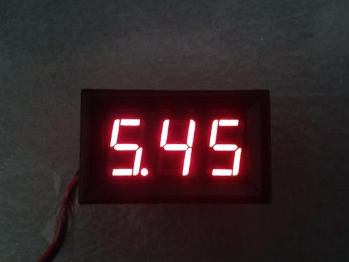 voltimetro display digital, 3-30v, auto, moto,mecatronica.