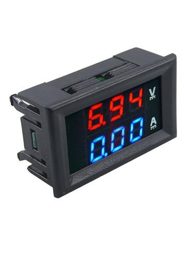 voltímetro e amperímetro digital led  dc 100v 10a shunt tc