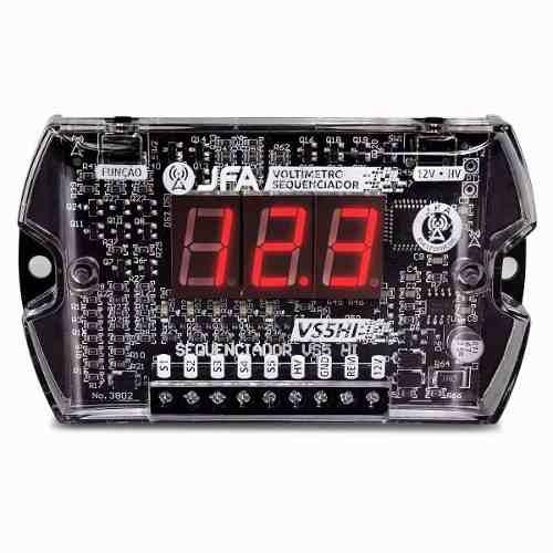 voltimetro sequenciador jfa vs5hi c/ 5 saidas remotas