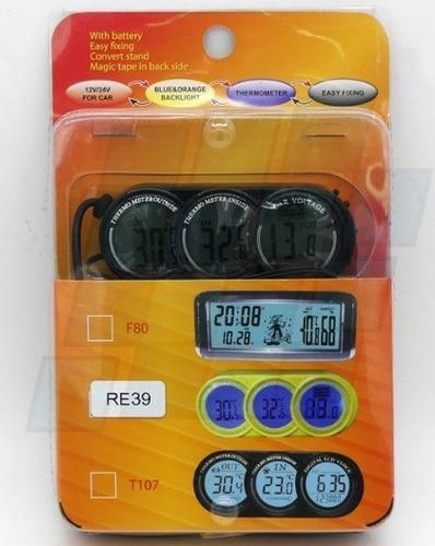 voltimetro termometro digital 12v 24v auto camioneta west