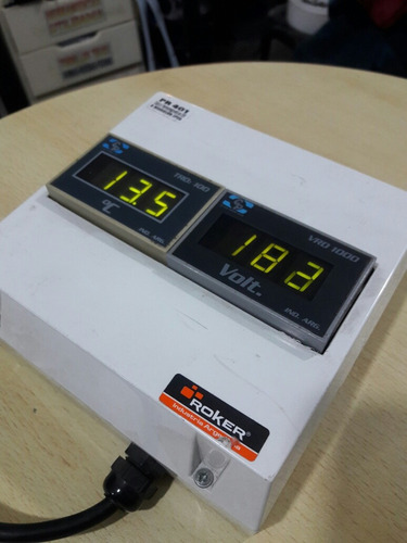 voltimetro + termometro portatil clase 1 profesional
