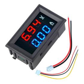 Voltimetro Y Amperimetro Digital De Panel 3 Digitos 0 A 100v Dc - 0 A 10a