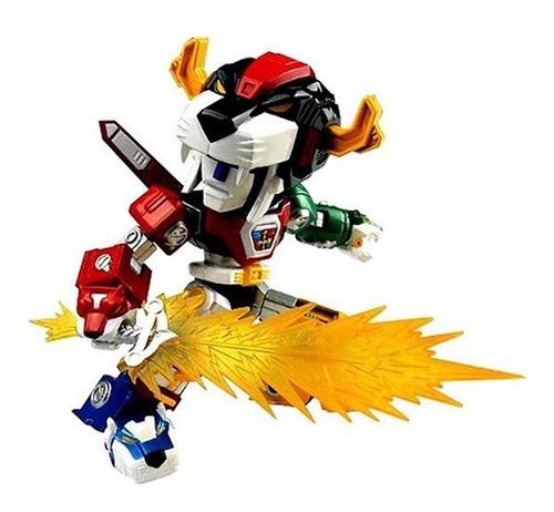 voltron super poseable figura toynami - robot negro