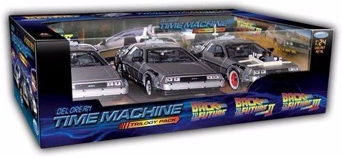 volver al futuro 1, 2, 3 trilogy set delorean time machine 1