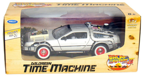 volver al futuro 3 auto delorean time machine escala 1:24