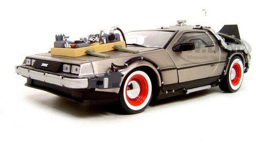 volver al futuro iii 3 delorean 1:18 diecast model coche po