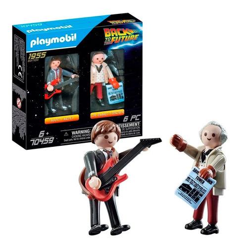 volver al futuro marty mcfly y dr brown playmobil 70459