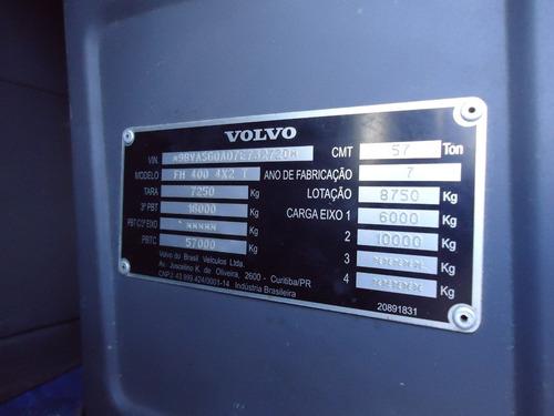 volvo fh 13 400 2007  4x2 teto alto com ar