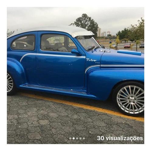 volvo pv 444 coupe 1957 57 - azul - antigo - ar condicionado