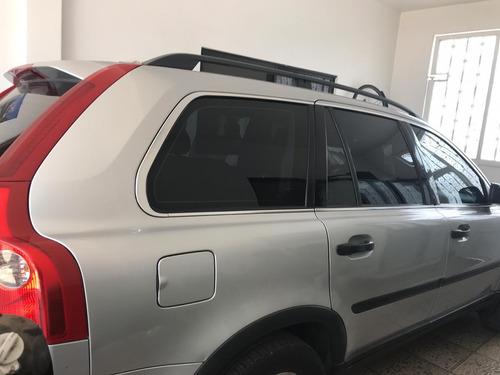 volvo xc90 2005 gris interior piel