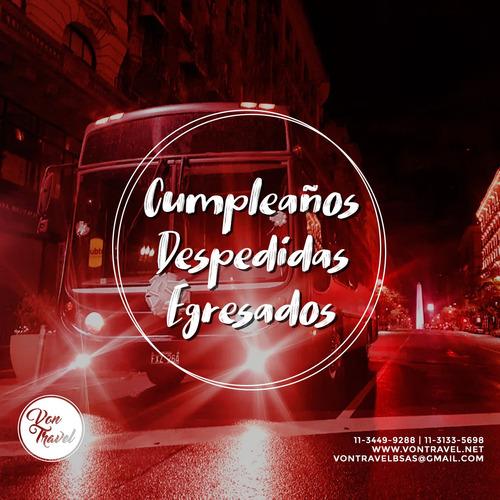 von travel- alquiler disco bus micro escolar no party bus