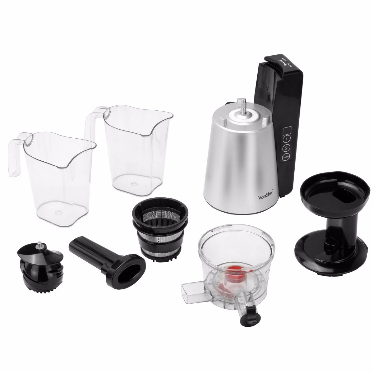 Vonshef 150w Masticating Slow Juicer Manual : vonshef Digital Slow Masticating Juicer With 2 Speeds - $ 4,199.00 en Mercado Libre