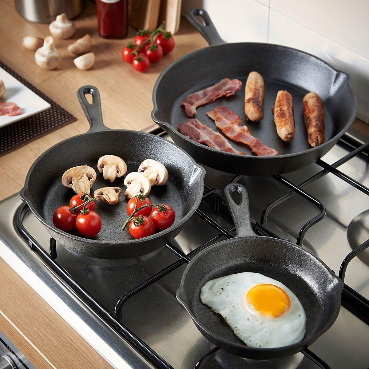 Vonshef sartenes de hierro fundido para estufa y horno - Sartenes hierro fundido ...