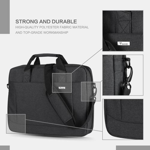 71c2299e5345 Voova 15.6 Inch Laptop Shoulder Bag Expandable Large Capacit