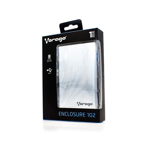 vorago carcasa disco duro externo case 25 hdd-102 plata
