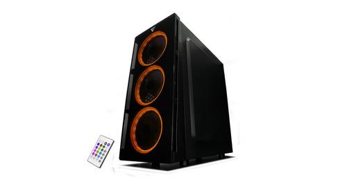 vorago gabinete game factor 3 ventiladores rgb  atx csg501