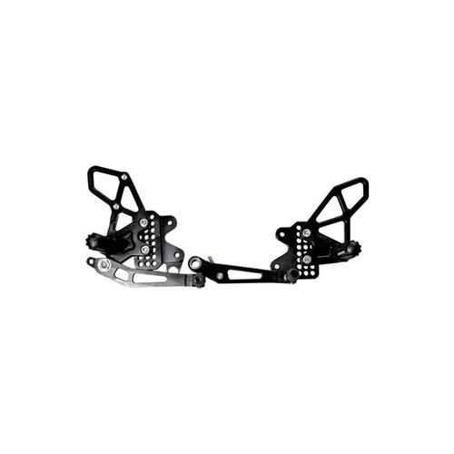 vortex racing rearset adj blk - gsxr600 / 750