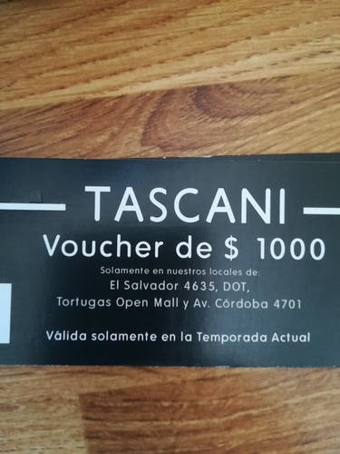 voucher canje ropa