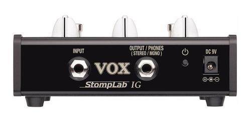 vox stomplab 1g pedaleira de efeitos para guitarra + brinde