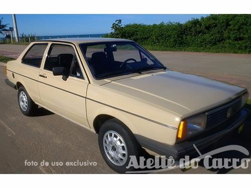 voyage ls 1984 impecável placa preta - ateliê do carro