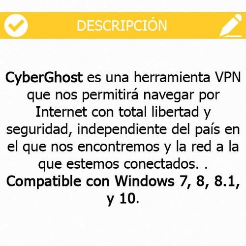 vpn ilimitado - cyberghost 6.0.8 premium