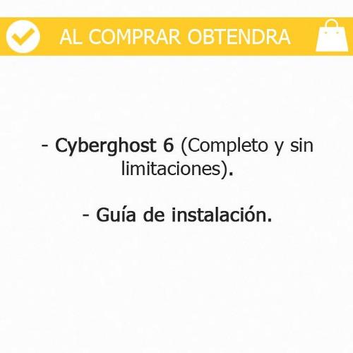 vpn ilimitado - cyberghost 6.5 premium