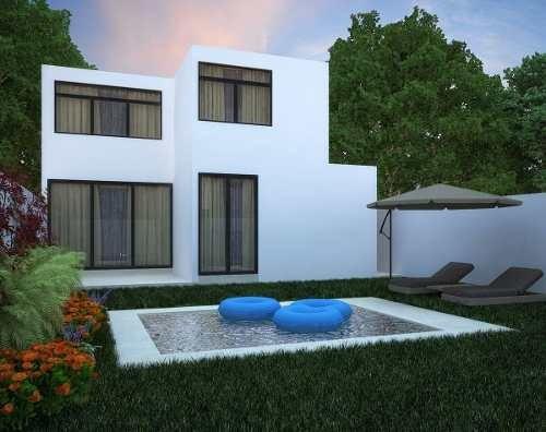 vr-17023 bonita casa en preventa en avenida conkal con piscina