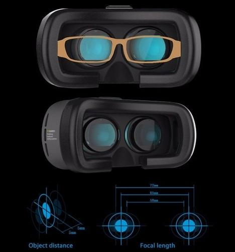 vr box 2ª gen. realidad virtual 3d +remoto. envio gratis